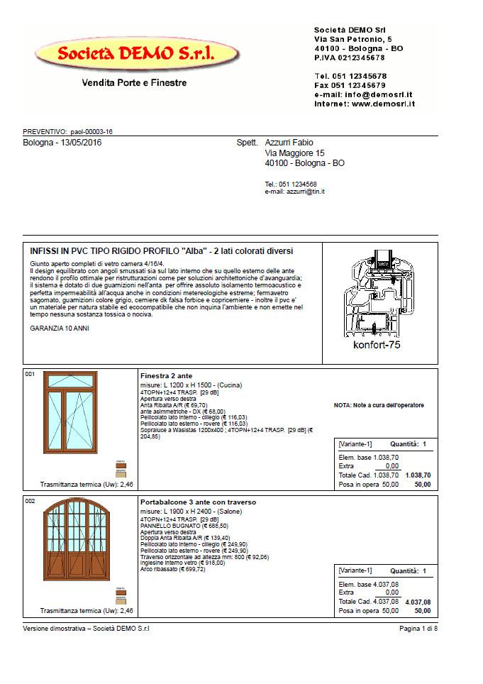 infixor software serramenti programma finestre e serramenti