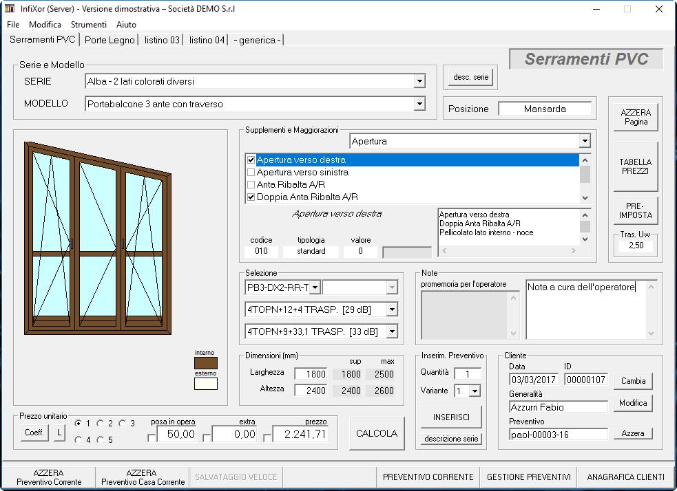 Infixor software preventivi finestre e serramenti for Software progettazione esterni